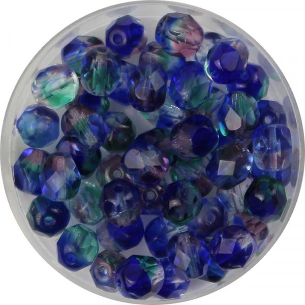 30 Glasschliffperlen 6 mm in hellgrün