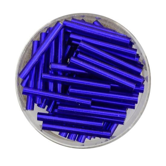 Glasstift, Silbereinzug, 15 mm, 17gr. Dose, dunkelblau