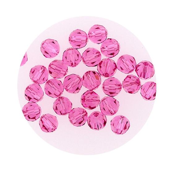 Swarovski Glasperlen, 6 mm, 5 Stück, rose