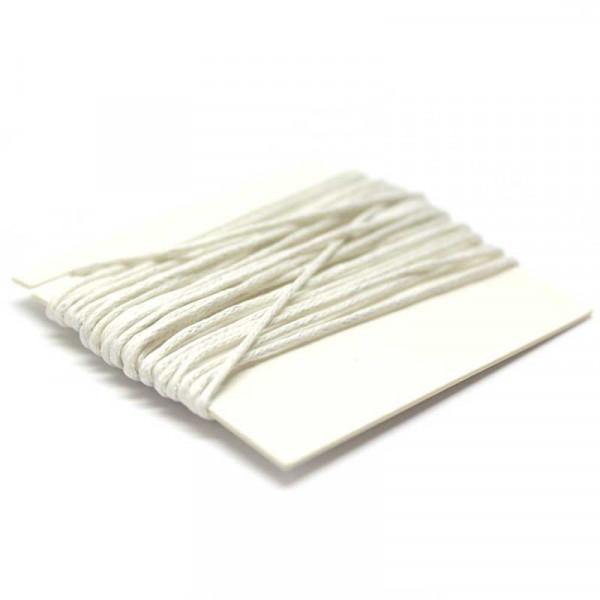 Baumwollkordel, 3 m, 1 mm, weiß