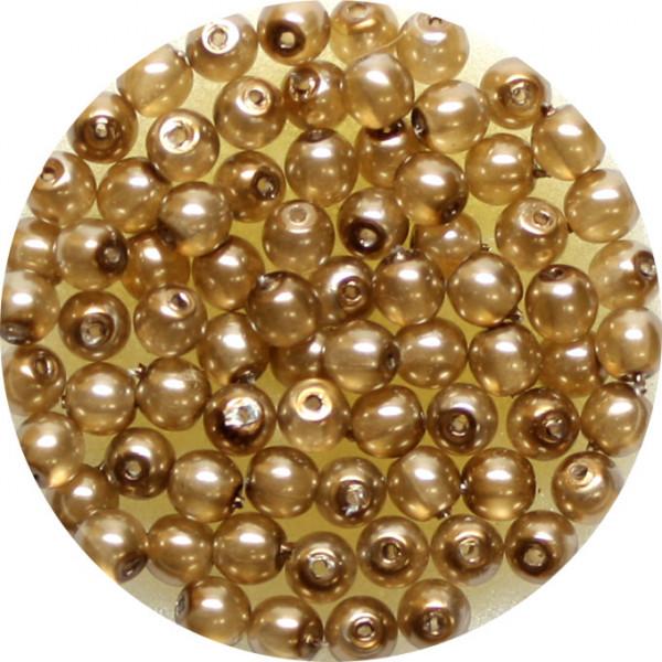 Crystal Pearl Renaissance, 4mm, 75 Stück, braun