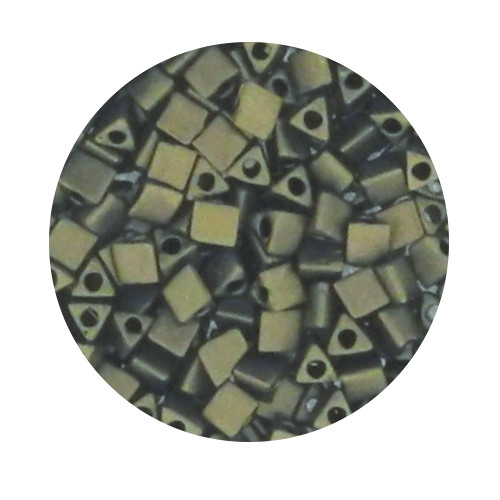 Sharp Triangle Beads, 2,5mm, 5gr. Dose,gold metallic matt