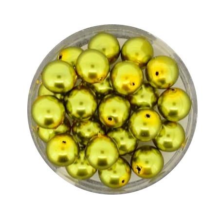 Pearl Renaissance, 8mm, 25 Stück, oliv