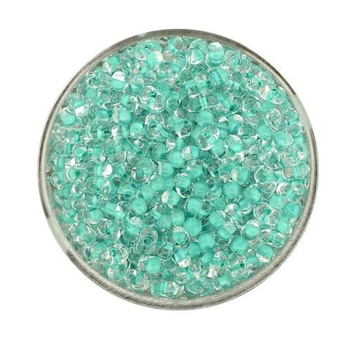 Farfalle, Farbeinzug glanz, 4 mm, 17gr Dose, kristall-grün
