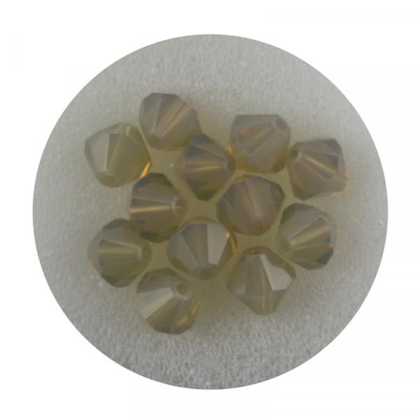 Swarovski Doppelkegel, 6 mm, 12 Stück,sand opal