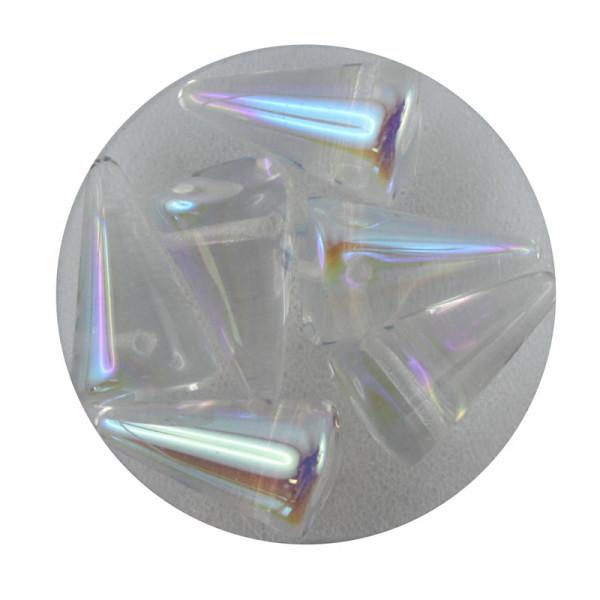 Spike Beads,12x18mm,6 Stück,kristall AB