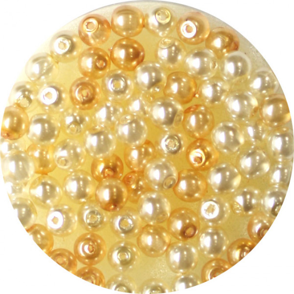 Crystal Pearl Renaissance, 4mm, 75 Stück, kultur-beige
