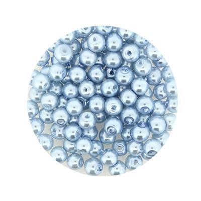 Pearl Renaissance, 4mm, 100 Stück,eisblau