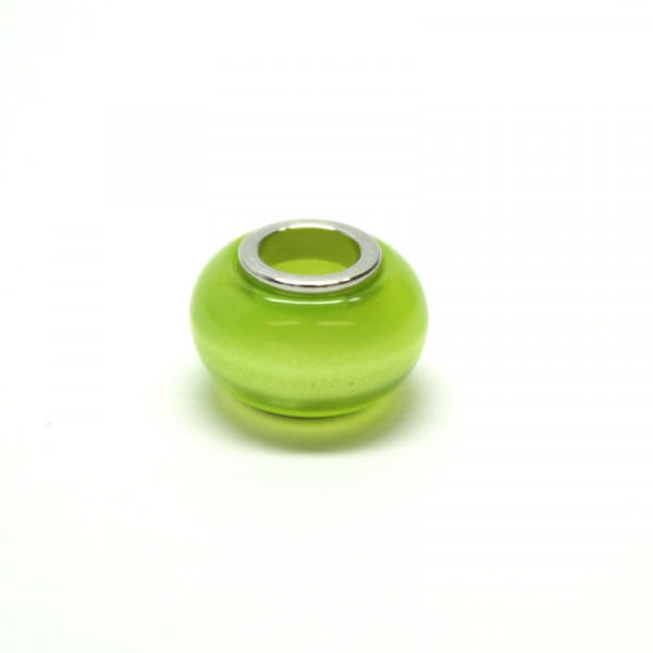 Polaris Großlochperlen, 8x12mm, kiwi-grün