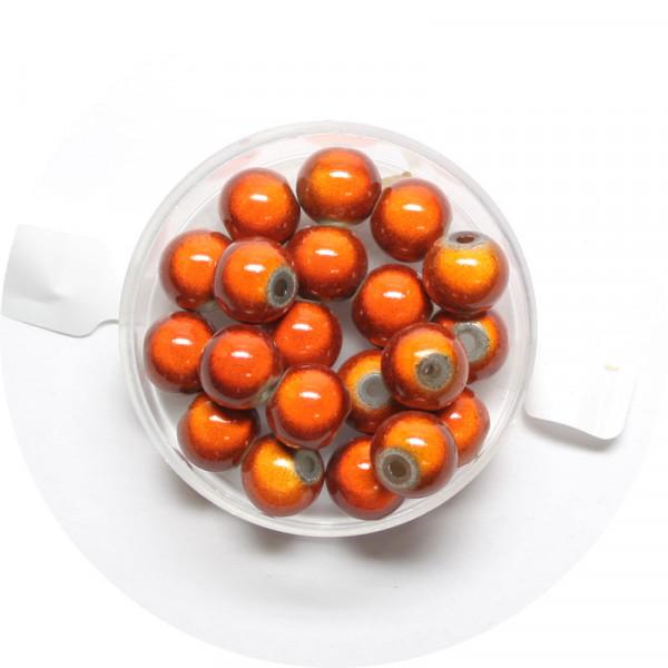 Miracle-Beads Glasperlen, 20 Stck., 8mm, orange