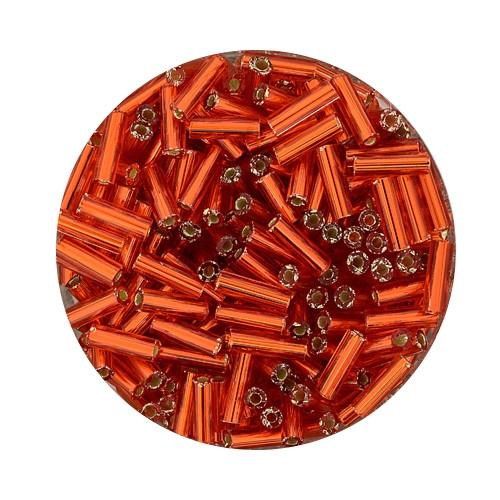 Glasstift, Silbereinzug, 6 mm, 17gr. Dose, orange