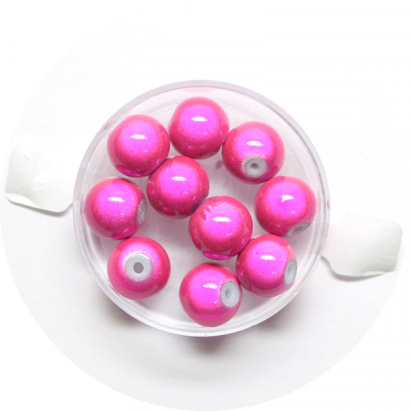 Miracle-Beads Glasperlen, 10 Stck., 10mm, pink