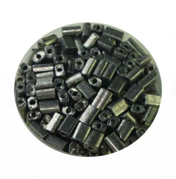 Glasrechteck, metallic, 5x3,5 mm, 17gr. Dose, grau