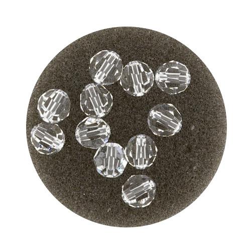 Swarovski Glasperlen, 4 mm, 5 Stück, crystal