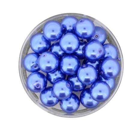 Pearl Renaissance, 8mm, 25 Stück, blau