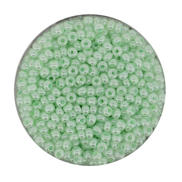 Rocailles, Wachs, 2,6mm, 17gr. Dose, wachs-grün
