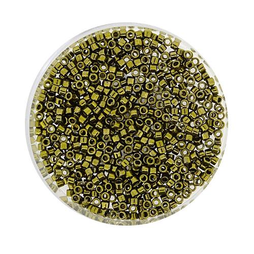 Miyuki Delicas, 11/0 (2,0mm), 4gr. Dose,olivine metallic