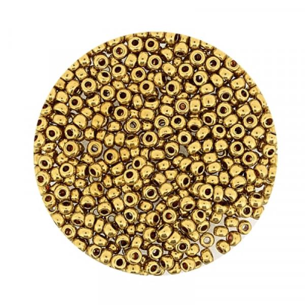 Miyuki Rocailles 2,2 mm - metallic dorado