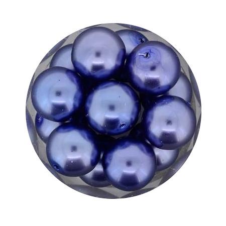 Pearl Renaissance, 12mm, 14 Stück, blau