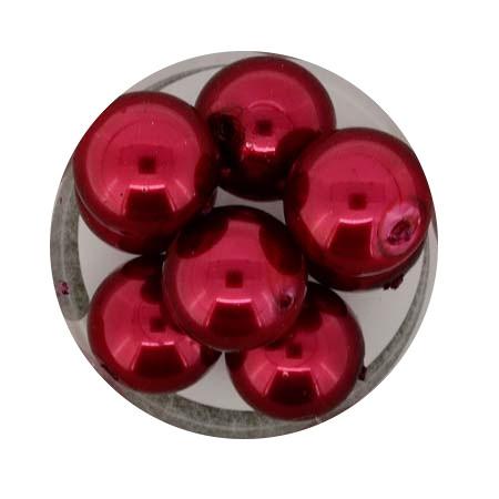 Pearl Renaissance, 14mm, 8 Stück, rot