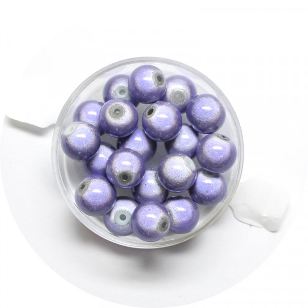 Miracle-Beads Glasperlen, 20 Stck., 8mm, tanzanite