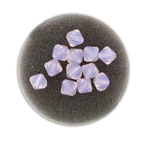 Swarovski Doppelkegel, 6 mm, 12 Stück,rose water opal