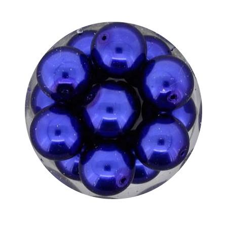 Pearl Renaissance, 12mm, 14 Stück, dunkelblau