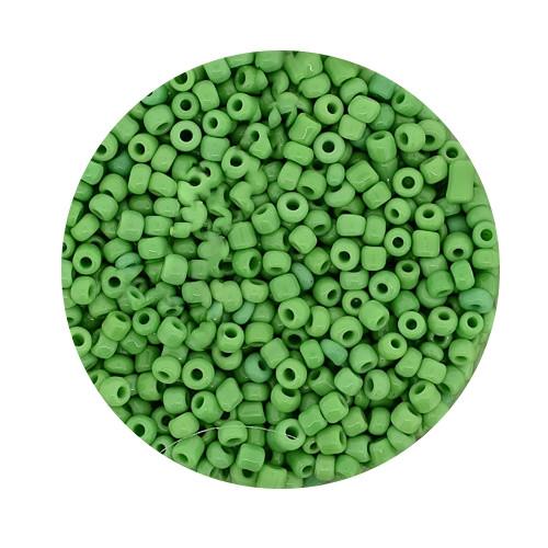 Rocailles aus China, 17gr. Dose, 2,6mm,grün