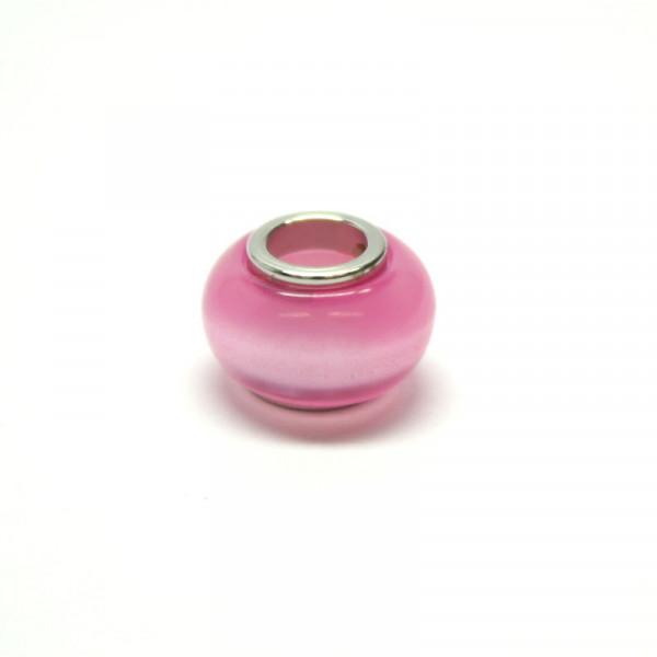 Polaris Großlochperlen, 8x12mm, rosa