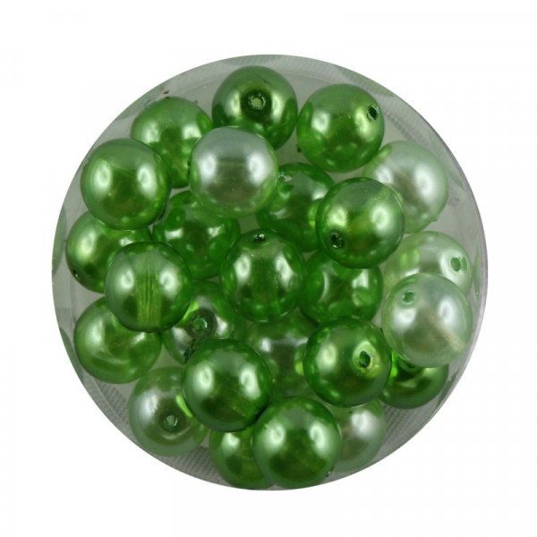 Crystal Pearl Renaissance, 8mm, 25 Stück, grün-ton