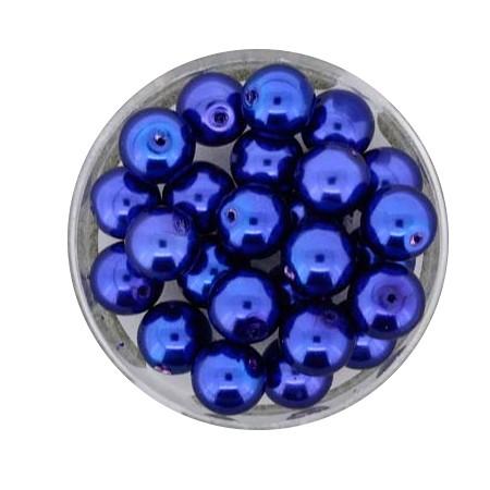 Pearl Renaissance, 8mm, 25 Stück, dunkelblau