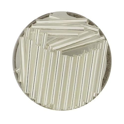 Glasstift, Silbereinzug, 19 mm, 17gr. Dose, kristall