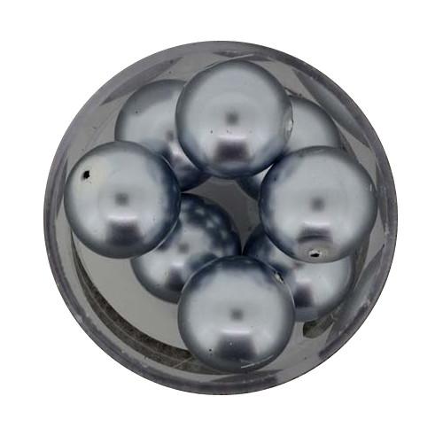 Pearl Renaissance, 14mm, 8 Stück, dunkelgrau