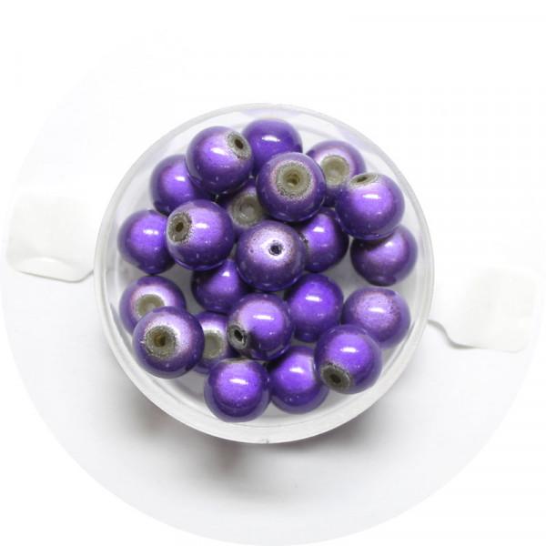 Miracle-Beads Glasperlen, 20 Stck., 8mm, lila
