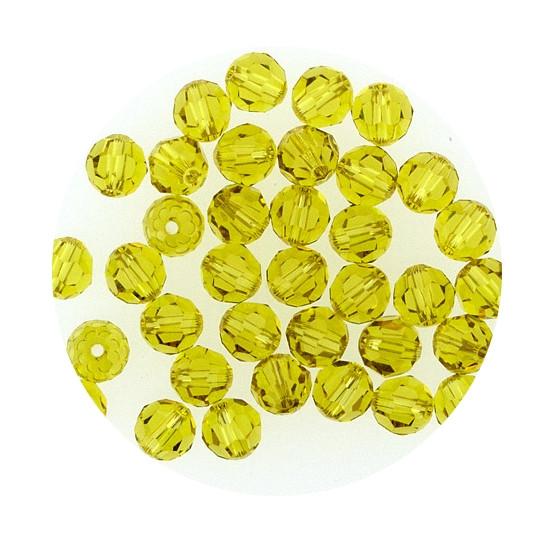 Swarovski Glasperlen, 6 mm, 5 Stück, lime