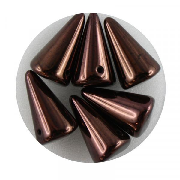Spike Beads,12x18mm,6 Stück,kupfer