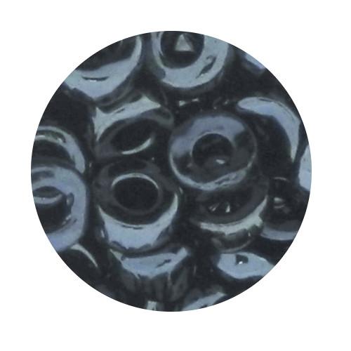 Glasperle, Großloch, 7 mm, 17gr. Dose, blutstein