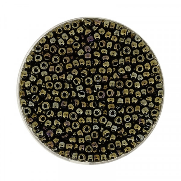 Miyuki Rocailles 2,2 mm - metallic green iris