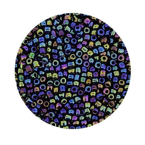 Rocailles aus China, 17gr. Dose, 2,6mm,dunkelblau AB