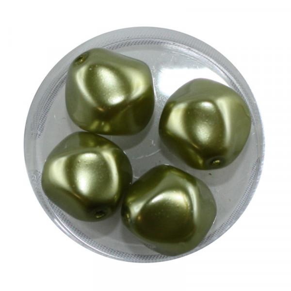 Pearl Renaissance, 17mm, 4 Stück, oliv