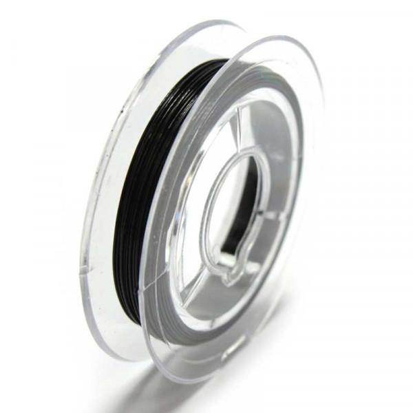 Edelstahldraht, nylonummantelt, 0,38 mm, schwarz
