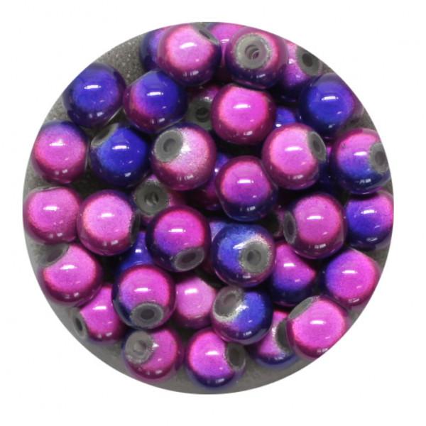 Miracle-Beads Glasperlen, 40 Stck., 6mm, blau-lila