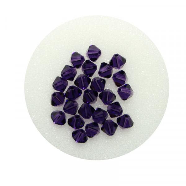 Swarovski Doppelkegel, 4 mm, 25 Stück,purple velvet
