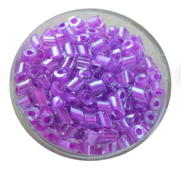 Glasperlen Cremette, glänzend, 4-6 mm, lila