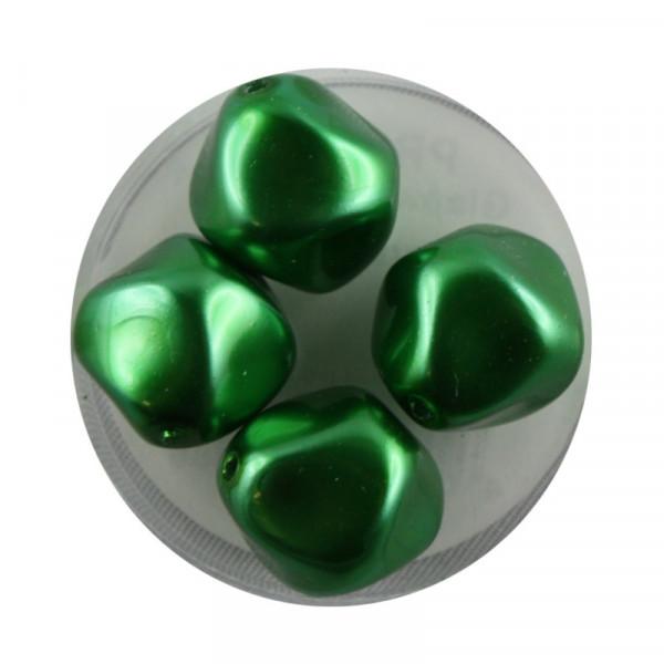 Pearl Renaissance, 17mm, 4 Stück, dkl. grün