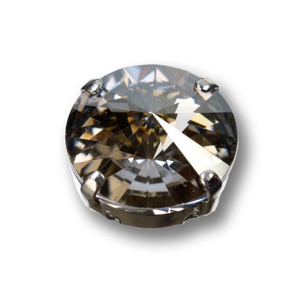 Swarovski Rivoli, 14 mm, silver shade
