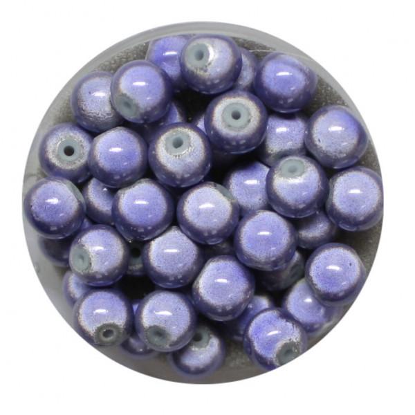 Miracle-Beads Glasperlen, 40 Stck., 6mm, tanzanite
