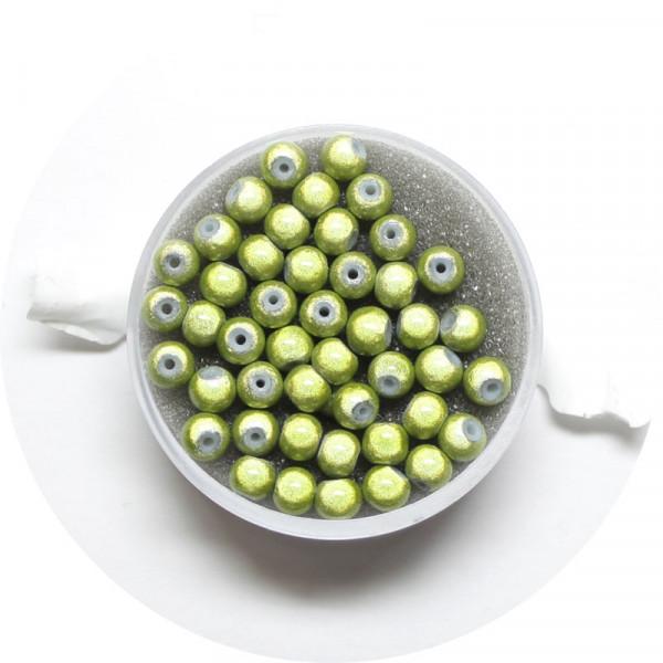 Miracle-Beads Glasperlen, 50 Stck., 4mm, hellgrün