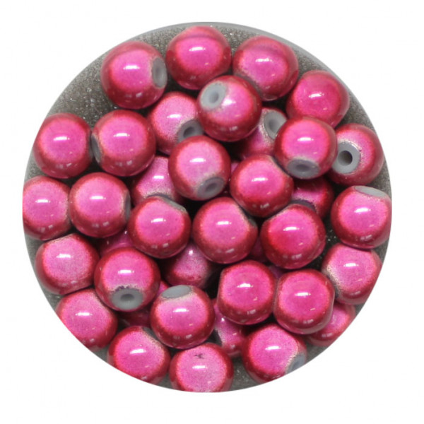 Miracle-Beads Glasperlen, 40 Stck., 6mm, altrosa