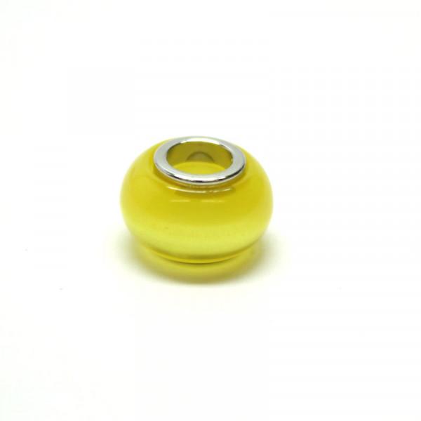 Polaris Großlochperlen, 8x12mm, gelb